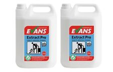 2 X 5 Ltr Evans Extract Pro Low Foaming Carpet & Upholstery Shampoo Cleaner