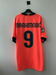 BARCELONA 2009/2010 AWAY FOOTBALL SOCCER SHIRT JERSEY CAMISETA NIKE IBRAHIMOVIC