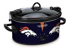LARGE Denver Broncos CROCK POT Slow Cooker Tailgating Football Party Serves 7+