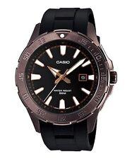 Casio MTD1073-1A3 Mens Elegant Steel Dress Watch Resin Band 100M Timer Bezel