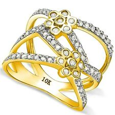 2/5 CARAT REAL DIAMOND SOLITAIRE 10KT SOLID GOLD ENGAGEMENT RING TW : 3.87g