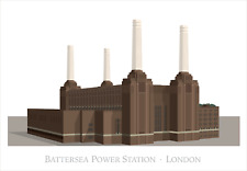 Battersea Power Station, London. Signed limited Edition high-detail art print.