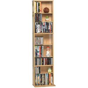 "Media Tower Rack Storage CD DVD Shelf Cabinet Organizer Stand Holder 54""x13"""