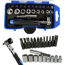 23 IN 1 CR-V Steel Repair Tool Kit Sleeve Screwdriver Spanner Drill Set 54 Bit