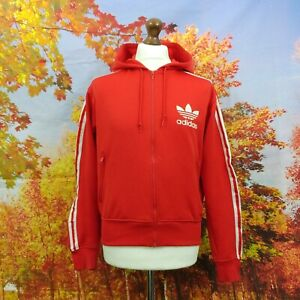 adidas Trefoil red full zip Hoodie. UK women's size Medium