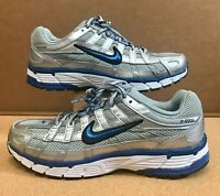 Nike Wmns P-6000 Silver Blue Womens Running Shoes Sneakers BV1021-001 Size 10