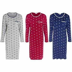 Ladies Long Sleeve Floral/Daisy Maternity Nightie/Nightdress Size 10-24