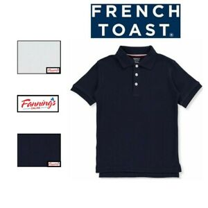 SALE! French Toast Boys' S/S Knit Polo Shirt COLOR VARIETY 2 PACK! SizesB24