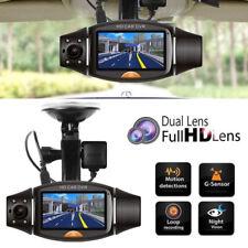 GPS HD Dual Lens 140° Dash Cam Car DVR Video Recorder Camera Front and Rear UK