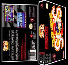 SOS Sink or Swim - SNES Reproduction Art Case/Box No Game.
