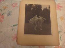 IRMA DELIGHT WESTON ORIGINAL SIGNED/DATED 1921 SEPIA PHOTOGRAPH MUSEUM PIECE!