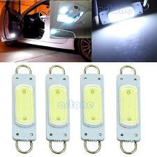 4X COB 44mm White Vehicle Car Light Rigid Loop LED Bulb For Door Lights