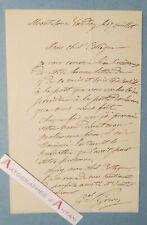 L.A.S Général Paul GREVY Mont sous Vaudrey Jura frère du Président Jules lettre