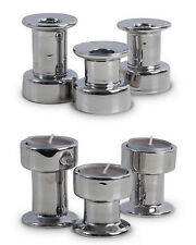 3er Kerzenhalter & Teelichthalter Silber 2 in 1 Set doppelseitig Kerzenständer