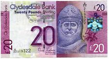 CLYDESDALE  Bank Twenty  POUND BANKNOTE Replacement EZZ 11th July 2009
