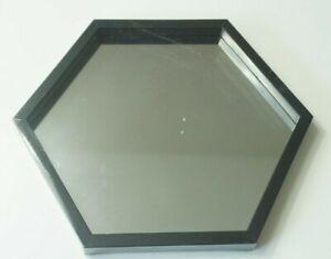 "Octagon Framed Wall Accent Mirror 8 1/4"" Tall - Black"