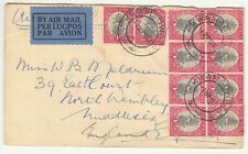 South Africa: Airmail Cover; Kwamas to North Wembley, London, 4 September 1934