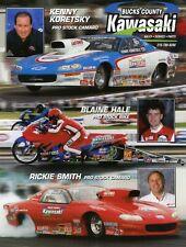 RICKIE SMITH 2000 Pro Stock NHRA Drag Racing Handout Hero Card Postcard