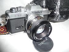 Camera  YASHICA FR + Yashica 1.7 50mm lens + black  case.. A4