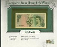 World Banknotes Isle of Man 1983 1£  P-38 UNC Prefix M Tyvek/Bradvek Polymer