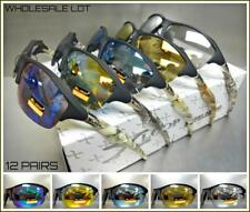 WHOLESALE LOT Men PREMIUM HUNTING FISHING SPORT WRAP AROUND SUN GLASSES 12 Pairs