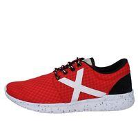 scarpe uomo MUNICH sneakers rosso tessuto AB787