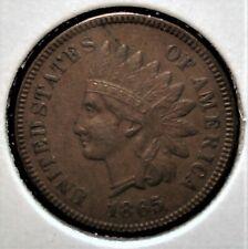 "1865 Indian Head Cent, Full ""LIBERTY"" in the Headband"
