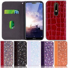 Glitter Wallet Leather Flip Case Cover For Nokia 3.1 5.1 6.1 7.1 X6 X7 6.1 Plus