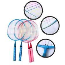 1 Paar Kinder Federball Set Badminton Badmintonschläger Spielzeug Geschenk FE