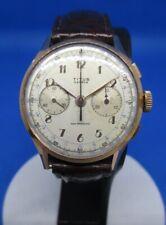 Chronographe Titus Landeron 48, en or 18 k, vintage, révisé