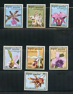 A067 Cambodia  1988  flora flowers orchids   7v.       MNH