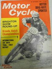 Motor Cycle Magazine, Sept 23, 1965, International Six Days Trial,  blue box 1