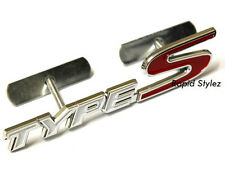 Type S Front Grill Badge Emblem White Red Honda Civic Accord FN2 EP3 EK 42wg