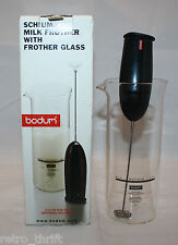 Bodum Schiuma Black Milk Frother with Frother Glass Set Tested Switzerland