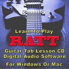 RATT Guitar Tab Lesson CD Software - 41 Songs