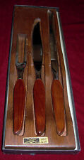 WASHINGTON FORGE FLEETWOOD HANDLE STAINLESS STEEL MEAT CARVING 2 KNIFE/FORK SET!
