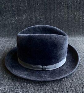 Playboy ~ John B Stetson Black Fedora Hat