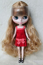 """Takara 12"""" Neo Blythe from Factory Nude doll Light brown curly hair Sd43 + stand"""