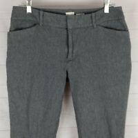 a new day womens size 8 stretch gray mid rise tapered crop pants EUC