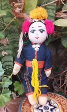 Antico Buddista indonesiano colorato Girl bambola panno doll handmade
