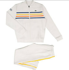 LACOSTE White Striped Tracksuit Kids 14Y