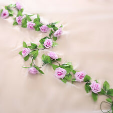 1X 13 Flowers 8.2ft Artificial Rose Silk Flower Garland Vine Wedding Party Decor