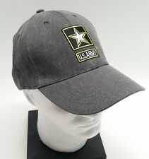 US Army Logo Baseball Cap Hat Adjustable Gray goarmy.com NEW Embroidered