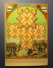 Old c.1910 Antique French Game PRINT - GAME OF WAR - Jeu D'Assaut