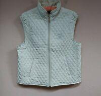 Sport Haley Poppy Hills Pebble Beach Womens Zip Font Quilted Vest Green Medium