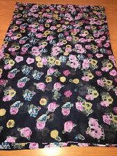 Womens Flower Joules Hand Drawn Print Long Line Wensley Scarf
