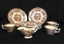 Vintage Royal Staffordshire Clarice Cliff Meakin Tonquin Plates Cups Creamer