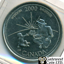 Canadian Roll of 2000 Millennium 25 Cent September-Wisdom Face Value $10.00