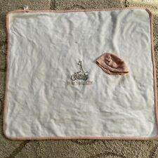 Harley Davidson Motorcycle Giraffe 100% Cotton White Baby Blanket 33 X 29 cm