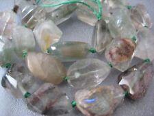 Green Phantom Quartz Faceted Nuggets Beads 23pcs